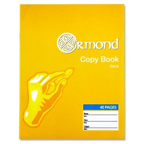 Ormond 40pg Blank Copy Book (Pack of 10)