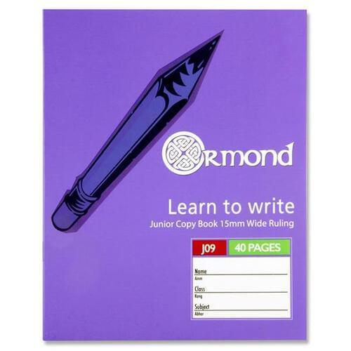 Ormond 40pg J09 Junior Copy Book (Pack of 10)