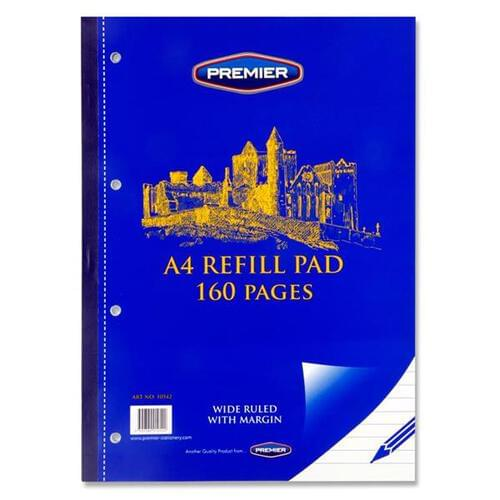 Premier A4 160pg Refill Pad - Side (Pack of 10)