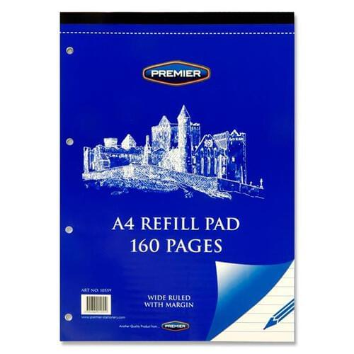 Premier A4 160pg Refill Pad - Top (Pack of 10)