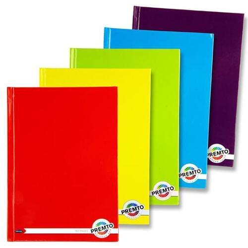 Premto A5 160pg Hardcover Notebooks S-1 5 Asst. Pkt.5