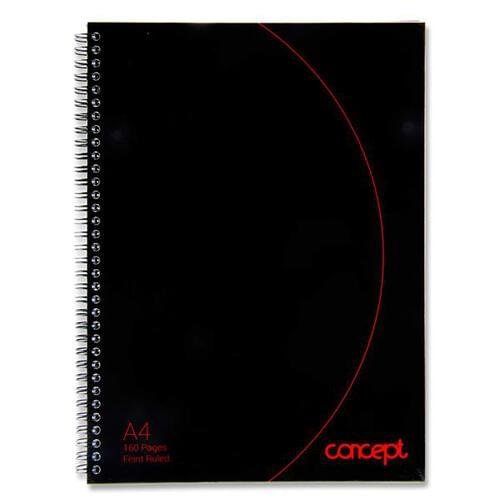 Concept A4 160pg Wiro Hardcover Notebook