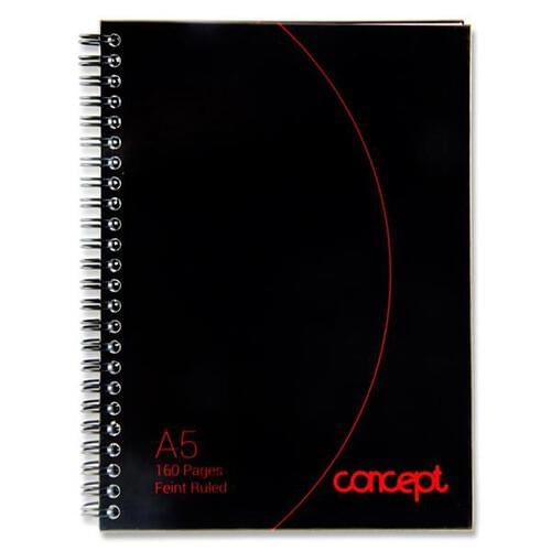 Concept A5 160pg Wiro Hardcover Notebook