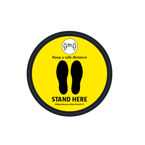 Non Slip Stand Here Floor Sign