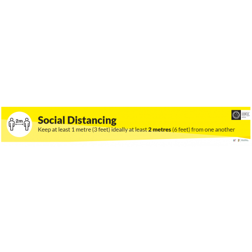 2M Social Distance Sign Non-Slip Material