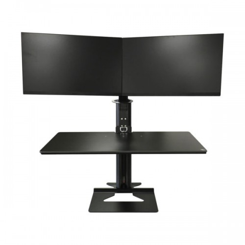 Dual Screen Sit Stand Workstation
