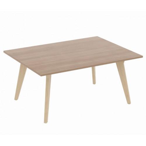 Exec Wooden Leg Boardroom Table