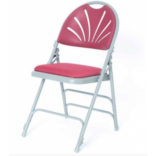 Upholstered folding chair