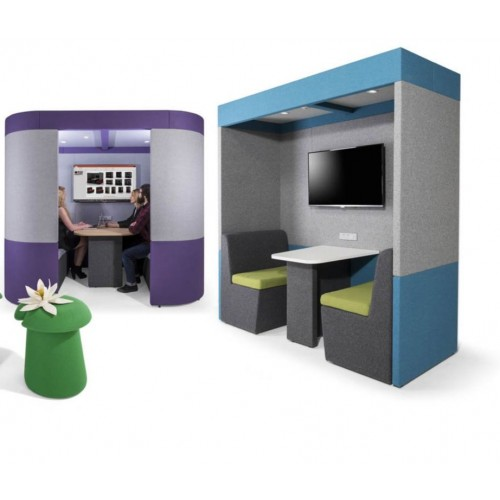 Meeting Booth with Enclosed Roof