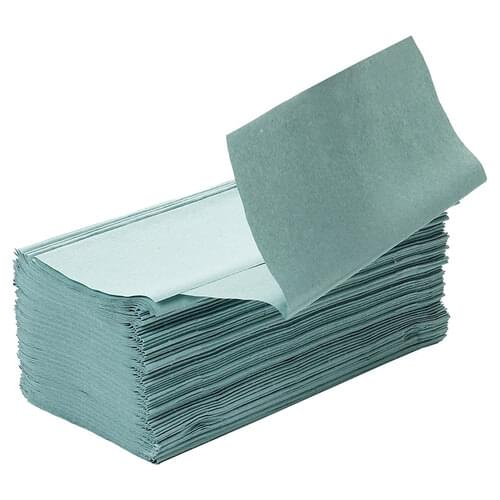1 Ply Inter-Fold Hand Green 3600 Sheets (Pack 15 x 240)