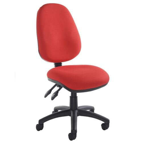 Operator Chair High Back 2 Lever No Arms Red