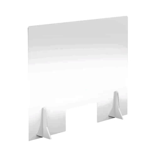 Free Standing Acrylic Screen 780 x 600 x 4mm Clear with Cut Out