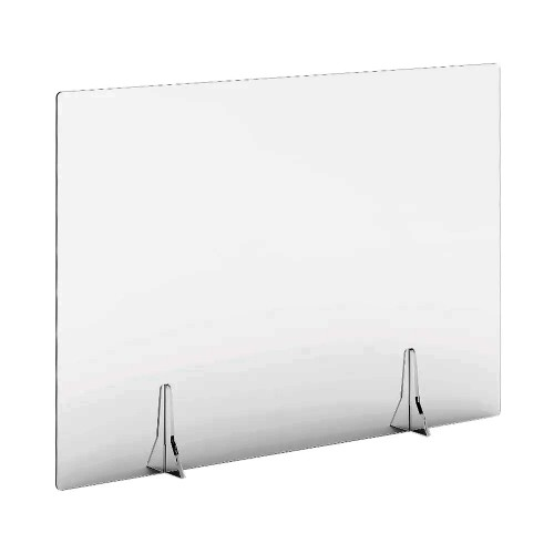 Free Standing Acrylic Screen 1000 x 700 x 4mm Clear