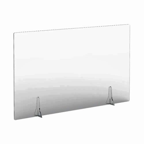 Free Standing Acrylic Screen 1200 x 700 x 4mm Clear