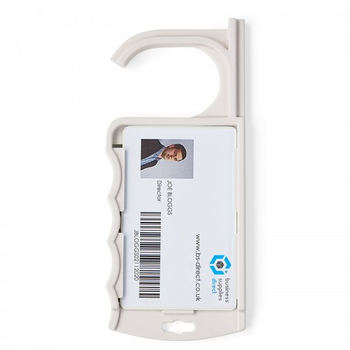 ID Badge Holder with Integrated Door Opener & Push Button Tool Pack 100