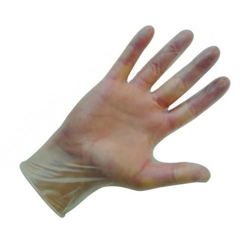 Shield Powder-Free Clear Medium Vinyl Gloves (Pack of 100) GD09
