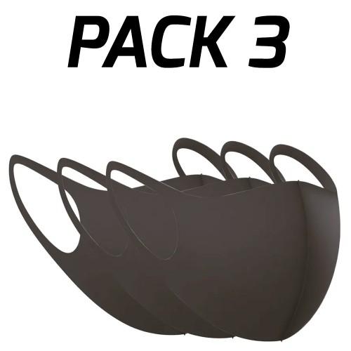 Black Re-Usable Sponge Face Mask (Pack of 3) SP278