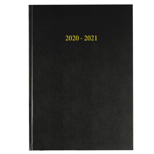 2020-2021 12 Months Academic Diary A4 Day To Page Black