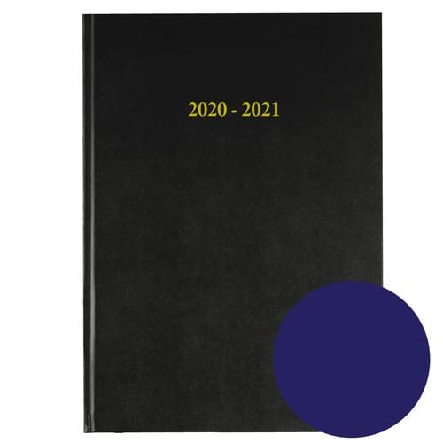2020-2021 12 Months Academic Diary A4 Day To Page Navy Blue