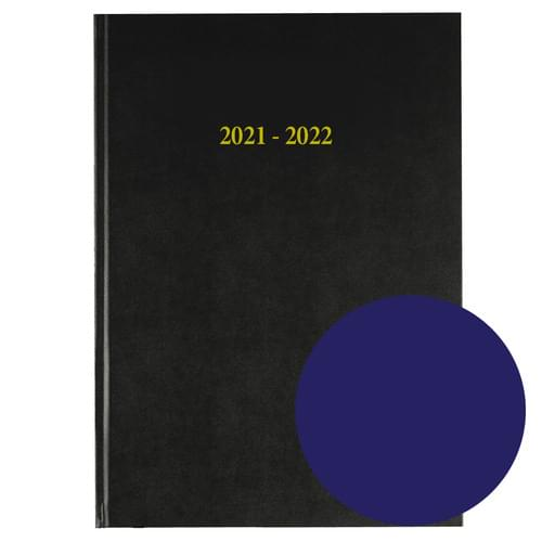 2021-2022 12 Months Academic Diary A4 Day To Page Navy Blue