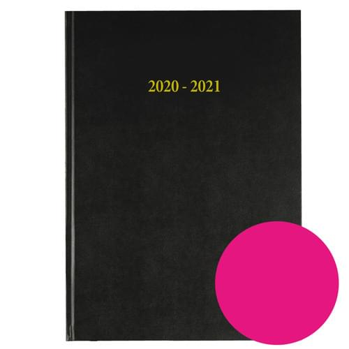 2020-2021 12 Months Academic Diary A4 Day To Page Dark Pink