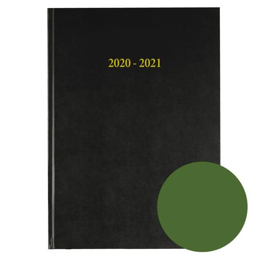 2020-2021 12 Months Academic Diary A4 Day To Page Green