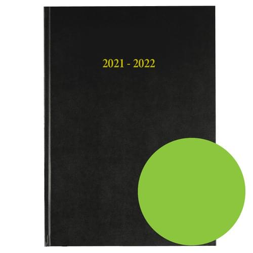 2021-2022 12 Months Academic Diary A4 Day To Page Lime Green