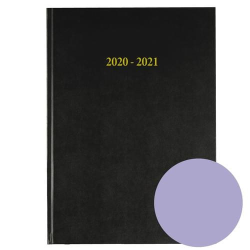 2020-2021 12 Months Academic Diary A4 Day To Page Mauve