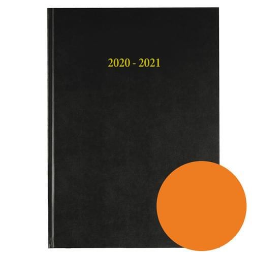 2020-2021 12 Months Academic Diary A4 Day To Page Orange