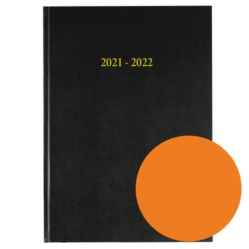 2021-2022 12 Months Academic Diary A4 Day To Page Orange