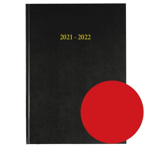 2021-2022 12 Months Academic Diary A4 Day To Page Red