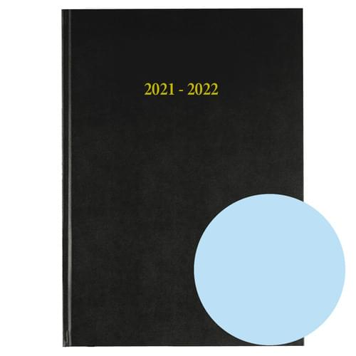 2021-2022 12 Months Academic Diary A4 Day To Page Sky Blue