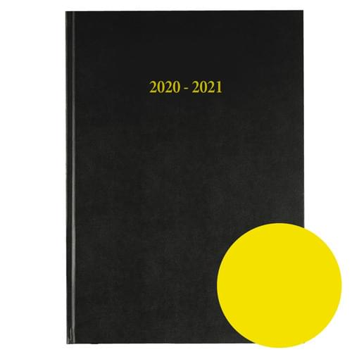 2020-2021 12 Months Academic Diary A4 Day To Page Yellow