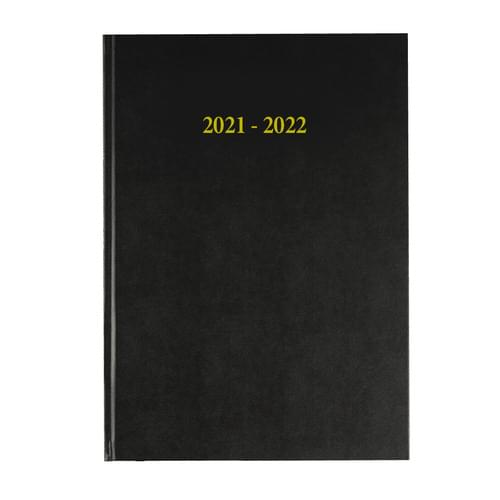 2021-2022 12 Months Academic Diary A5 Day To Page Black