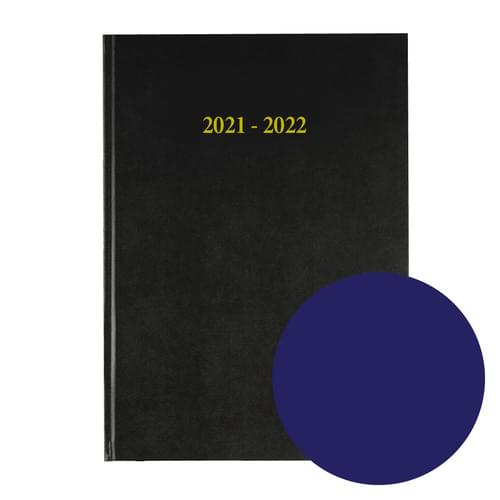 2021-2022 12 Months Academic Diary A5 Day To Page Navy Blue