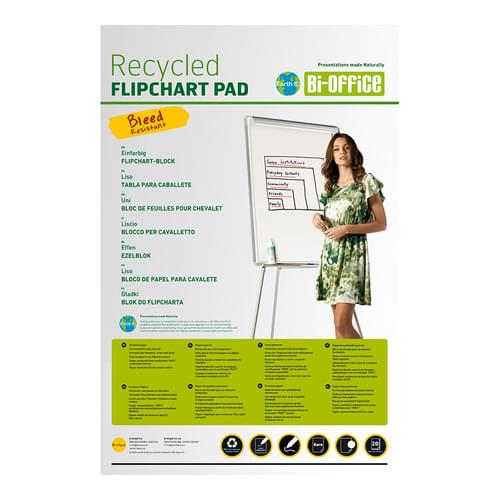 Earth-it A1 Recycled Flipchart Pad Pk5