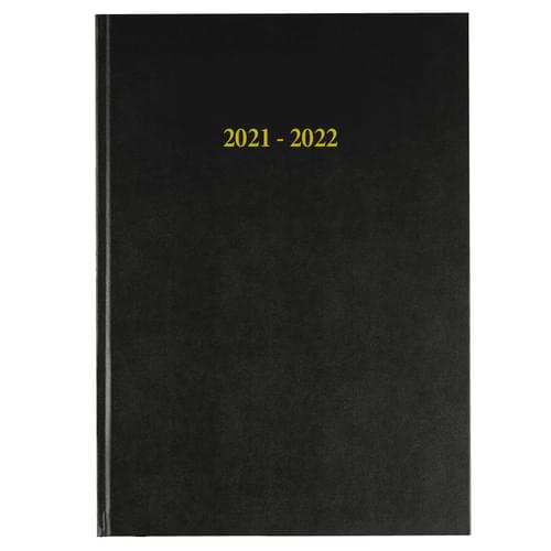 2021-2022 18 Months Academic Diary A4 Week To View Black