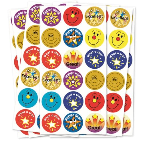 Stars & Smiles Reward & Motivation Stickers Bumper Pack