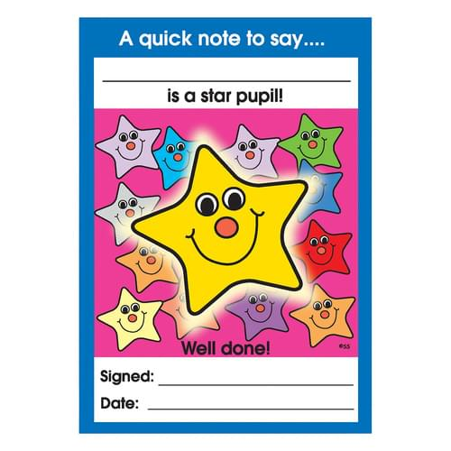 Star Pupil Reward Note Pad