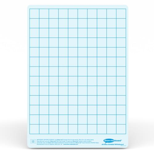 Show-me A4 Gridded Blue Tinted Drywipe Lapboards Pk5