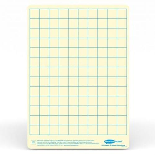 Show-me A4 Gridded Cream Tinted Drywipe Lapboards Pk5