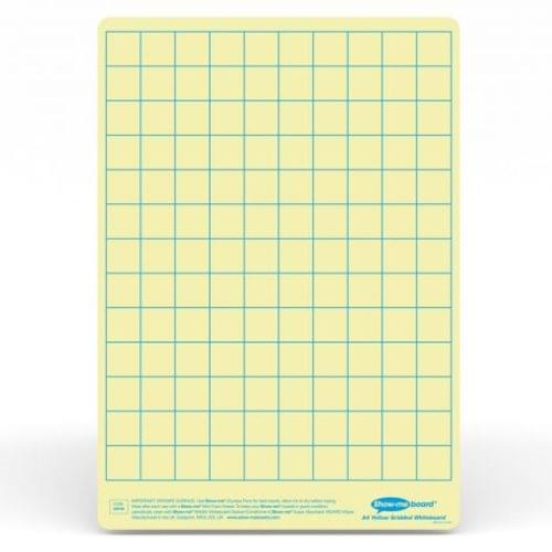 Show-me A4 Gridded Yellow Tinted Drywipe Lapboards Pk5