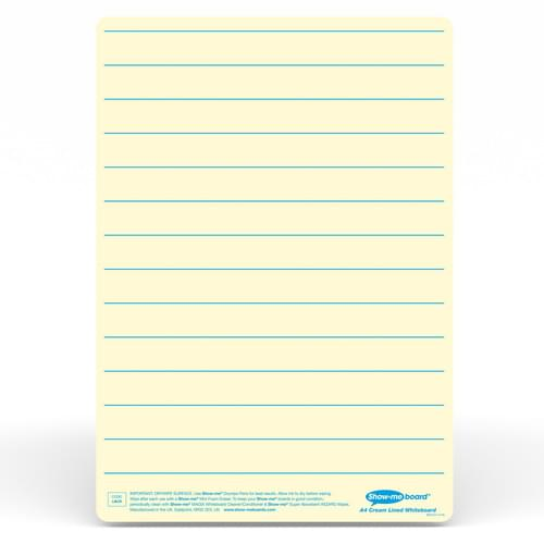 Show-me A4 Lined Cream Tinted Drywipe Lapboards Pk5