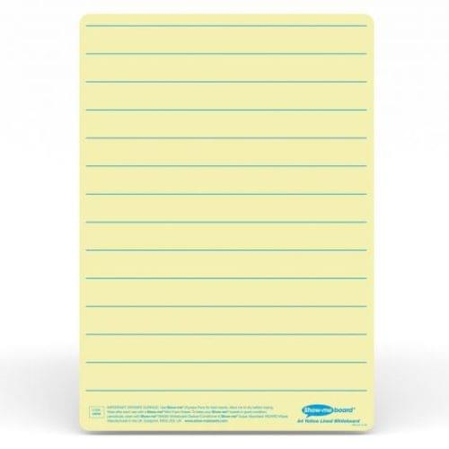 Show-me A4 Lined Yellow Tinted Drywipe Lapboards Pk5
