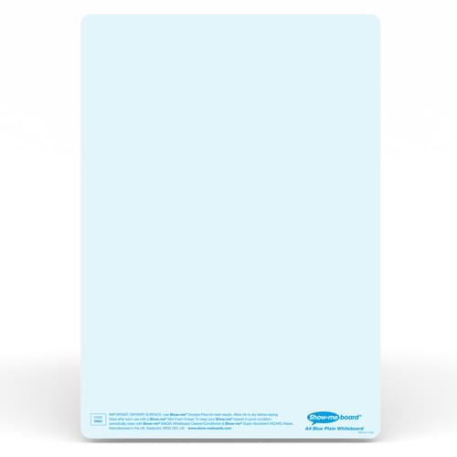 Show-me A4 Plain Blue Tinted Drywipe Lapboards Pk5