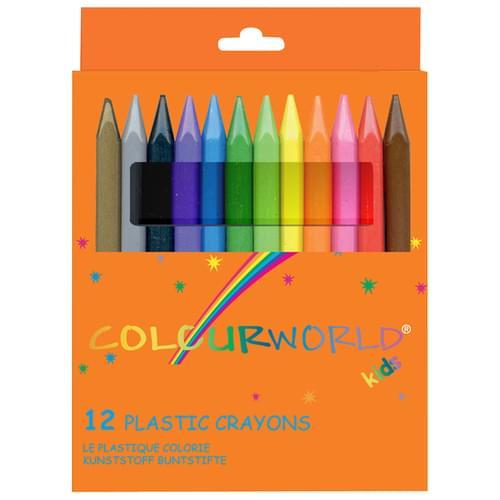 Colourworld Super Saver Plastic Crayons Pk12
