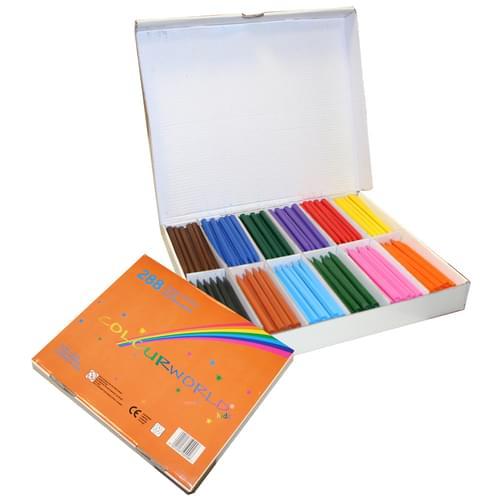 Colourworld Super Saver Plastic Crayons Pk288