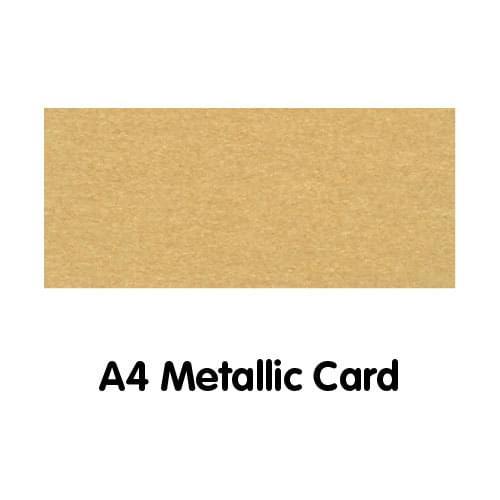 Metallics Paper A4 250gsm Gold