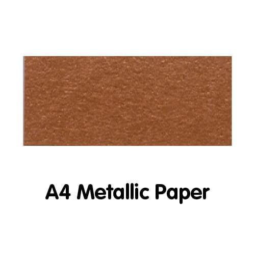 Metallics Paper A4 120gsm Bronze