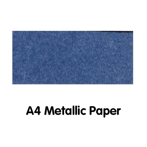 Metallics Paper A4 120gsm Deep Blue